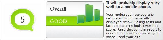mobile website score