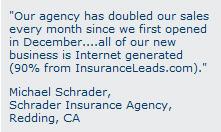 insurance lead testimonial